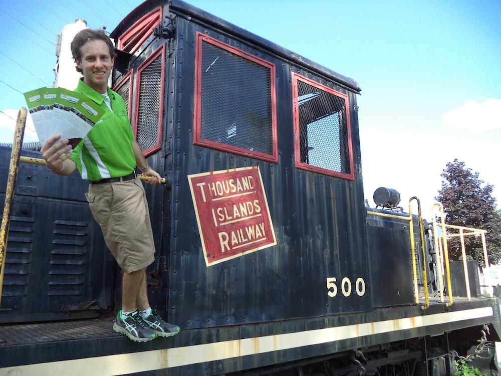All aboard the 1000 Islands Railway