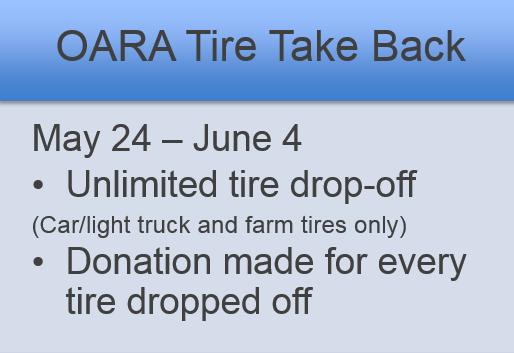 OARA Tire Take Back 2015