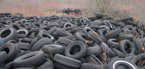 Tire piles feature