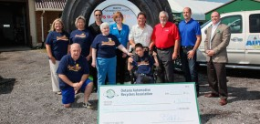 Tire Take Back Cheque presentation web feature