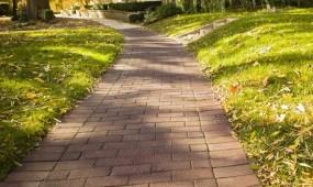 Rubber brick walkway
