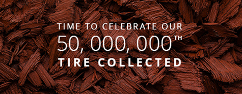 Congratulations, Ontario. It's a great milestone we've achieved together – and we've only been recycling Ontario's used tires since,