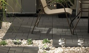 Rubber landscape tiles